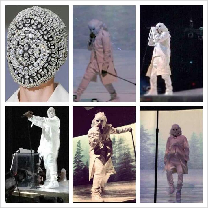 Kanye West Feather Mask