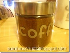 coffee labeled jar