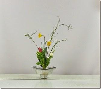 【盛花】ユキヤナギ、アネモネ、ラッパ水仙