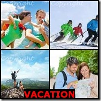 VACATION- 4 Pics 1 Word Answers 3 Letters
