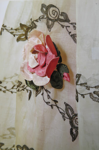 This handmade flower was the inspiration for the dimensional blooms on Rosma's dress.
