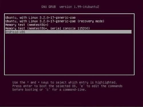 Android x86 dual boot Ubuntu