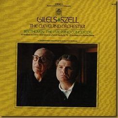 Beethoven concierto piano Gilels Szell
