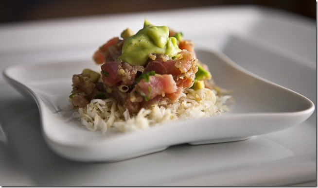 Avocado Tuna Tartare on Shredded Celery Root-2