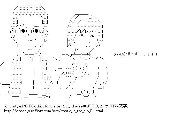 [AA]シータ「この人痴漢です!!!!!」 (天空の城ラピュタ)