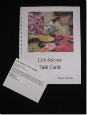 life science Task card set