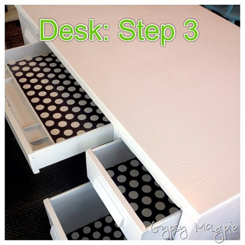 lined desk drawers