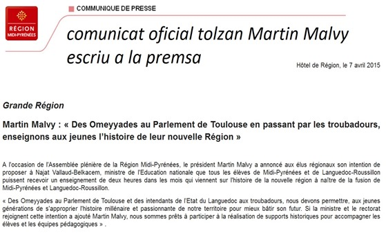 comunicat oficial de Martin Malvy