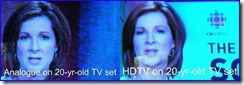 HDTV Comparison Photo for DTV Article