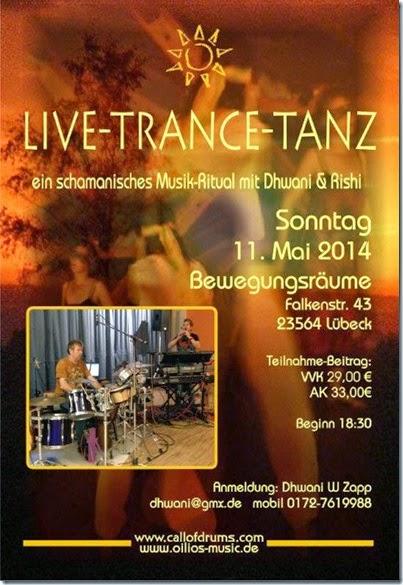Poster TranceDance Lübeck 2014