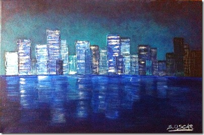 City in the blue