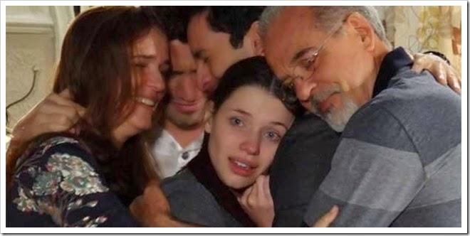 Abraço em família