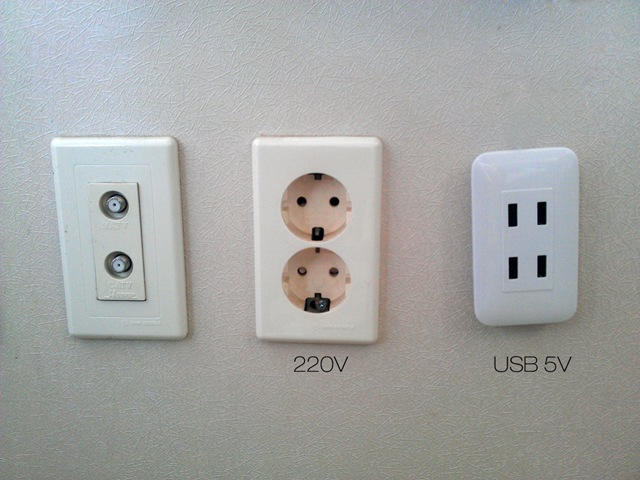USB on the wall