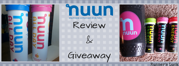 Nuun Review&Giveaway