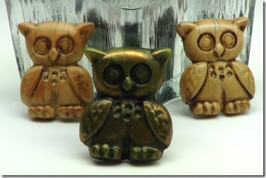 Polymer clay Owl pins