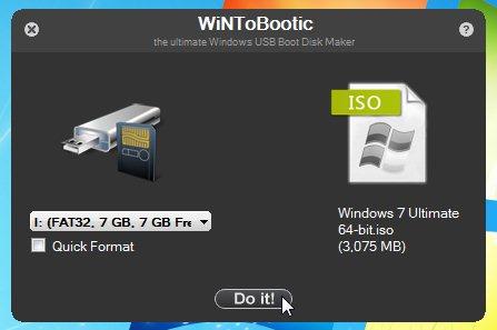 WiNToBootic: crear una USB booteable