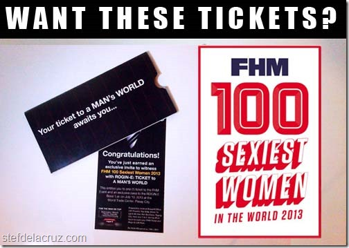 FHM tickets 100 sexiest women