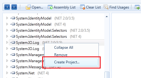Creation of Visual Studio projects