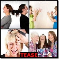 TEASE- 4 Pics 1 Word Answers 3 Letters