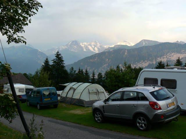 Udsigten fra campingpladsen i Beatenberg