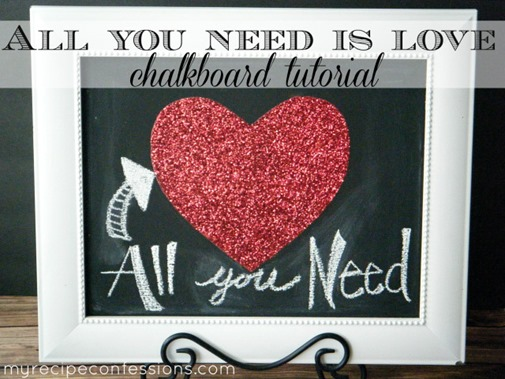 All You Need Is Love Chalkboard Art by My Recipe Confessions