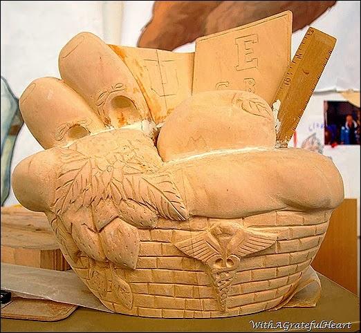 Carousel Carving - Bear - Basket