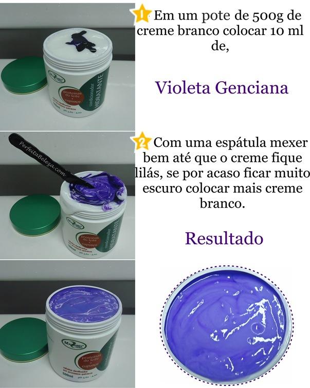 Como preparar violeta genciana em creme