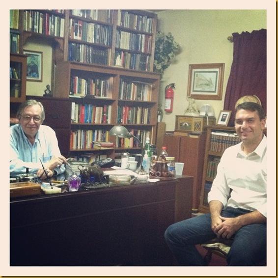 Olavo de Carvalho e Flavio Bolsonaro - 11-07-2012 - USA