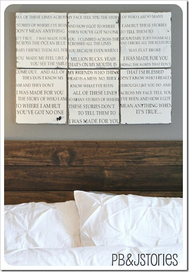 wedding song lyrics wall art