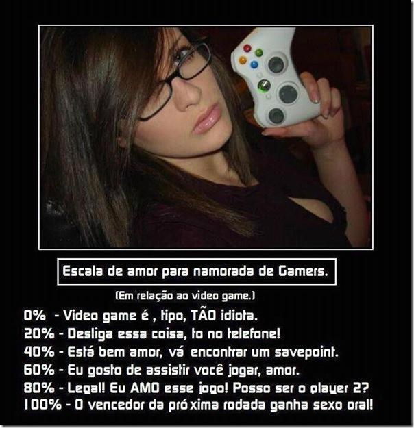 Escala de amor para namorada de Gamers