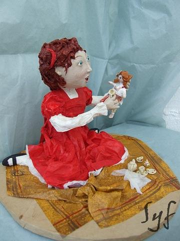 muñeca papel mache 16