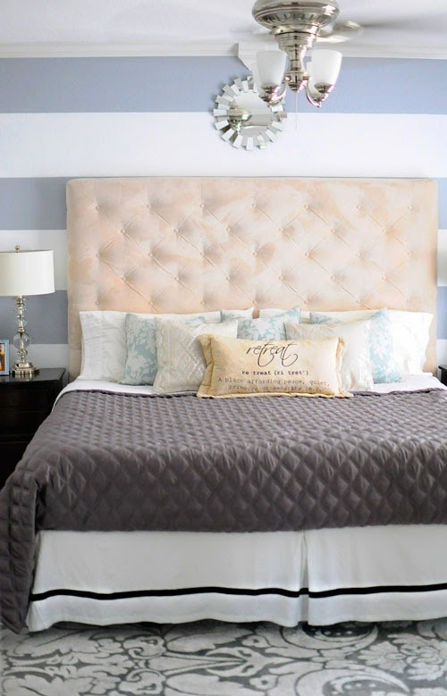 Budget master bedroom makeover via MonicaWantsIt.com #diy #home
