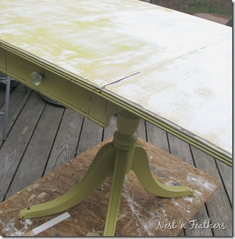 0411 Green Table DISTRESSED