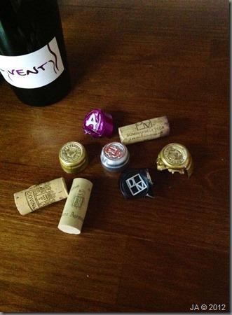 capsulas y vino