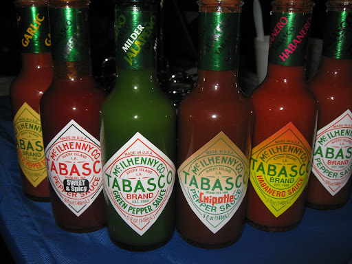 Made on Avery Island, Louisiana, Sandy and Betsy were treated to a little tasting of the McIlhenny family's tabasco sauces.