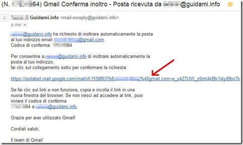Gmail Gmail Conferma inoltro – Posta ricevuta