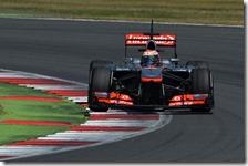 Magnussen(McLaren) nei testi di Silverstone 2013