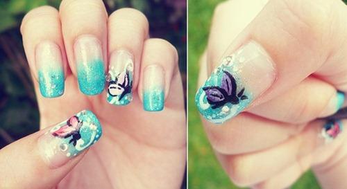 Από το σχέδια νυχιών με πεταλούδες #1
