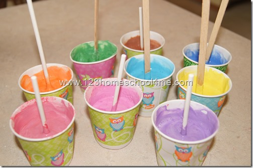 Popsicle Homesmade Chalk