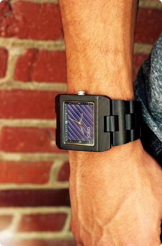 JORD mens delmar blue wood watch