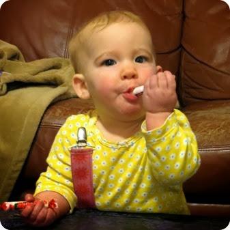 Libs eating Smarties