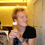 matt enjoying a beer in shibuya in Narita, Tokyo, Japan