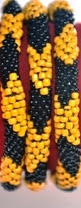 rollover bracelet yellow black