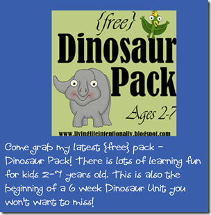 {free} Dinosaur Pack Printable for Preschool