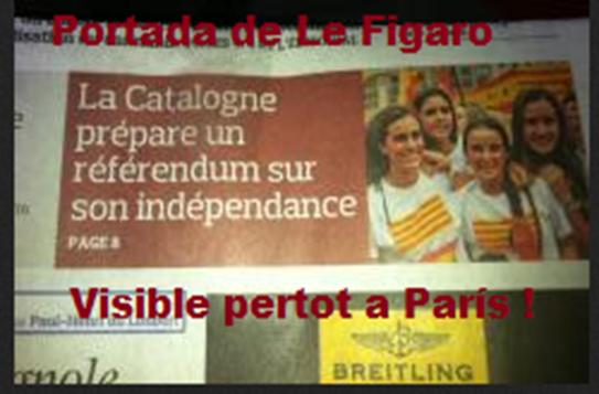 Portada Le Figaro visibla pertot a París
