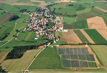A solar complex in Bavaria, southern Germany