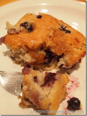 @mvemother Blueberry Coffee Cake 1