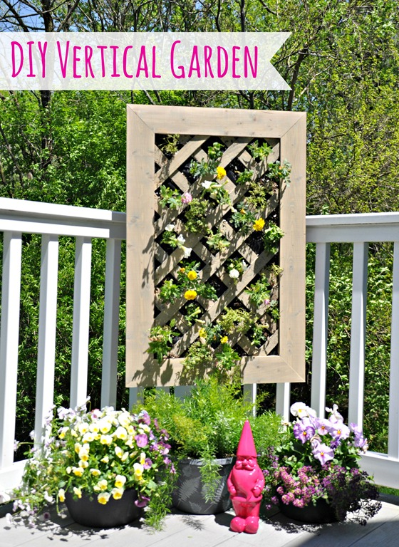 DIY Vertical Garden Tutorial #digin #heartoutdoors