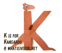 K is for Kangaroo @ whatilivefor.net