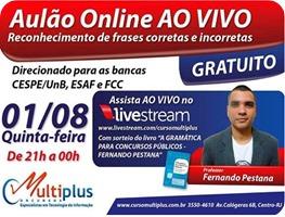 400x300 - Aulão grátis - português - Fernando Pestana - 01-08-13 -